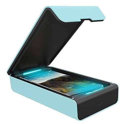 Haokaini Tragbare UV-Handy-Sterilisationsbox Desinfektionsbox mit Doppelter UV-Gesichtsmaske Multifunktionale Sterilisatorbox für Kleine Gegenstände
