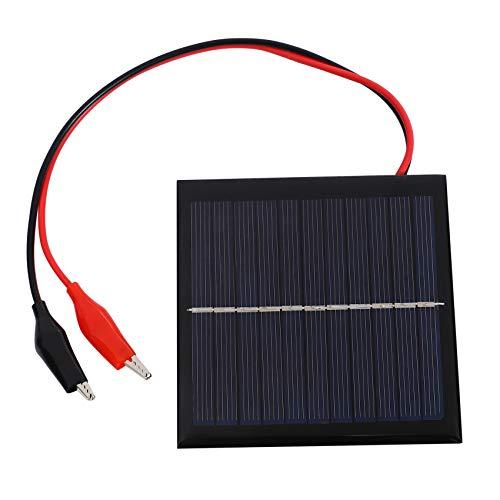 WOVELOT 1 W 5.5 V Solaire Epoxy Polycristallin Solaire Panneau + Clip Pour Charging 3.7 V Batterie Systeme Jouet LED Lumiere Etude 95 * 95 MM