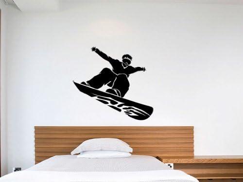 Snowboard wall decal