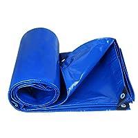 荷台カバー ターポリンレインクロスリノリウムトラックターポリンサンプロテクション防水キャンバス屋外シェードクロス, 350g ㎡、厚さ0.35MM 荷台シート (色 : Blue, サイズ : 2x2m)
