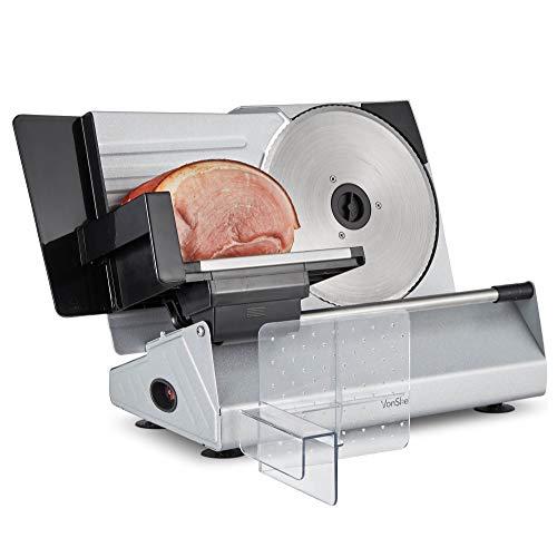 VonShef Stainless Steel Meat Slicer – Specialist Cutting Machine for Deli...