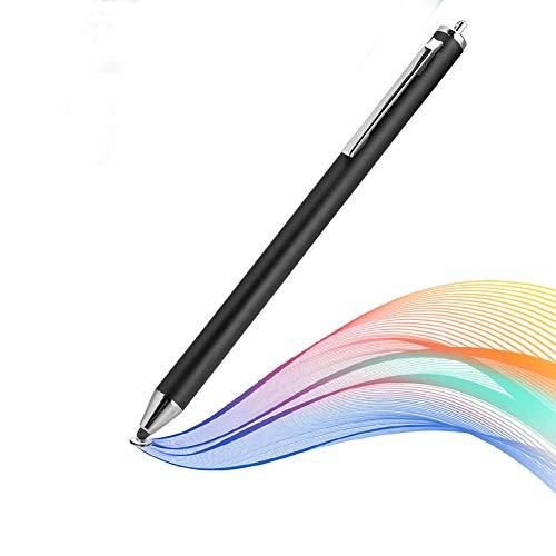143 Lápiz, Cabezal de Tela, Pantalla táctil, lápiz Digital, lápiz óptico portátil para teléfonos Inteligentes y tabletas por Samsung/por LG/por Huawei/por Xiaomi(Negro)