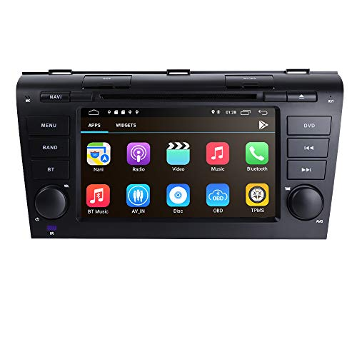 2 Din Auto Stereo Auto DVD Speler Ingebouwde DSP met Android 9.0 OS 7 Inch Capacitieve Touch Screen Ondersteuning Spiegel-link Bluetooth WiFi 4G USB DVR SWC RDS Speciaal voor Mazda 3 2004-2009