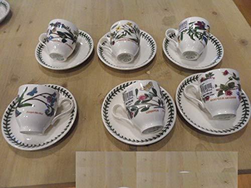 Portmeirion Juego de 6 tazas de café expreso Botanic Garden 0,11 l