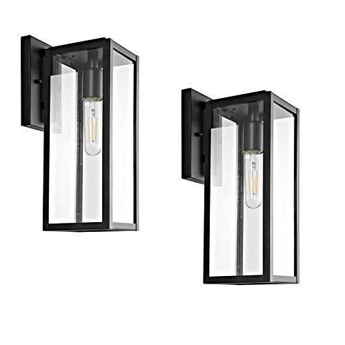 Bestshared Outdoor Wall Lantern, 15'1-Light Exterior Wall Sconce Light Fixtures,Wall Mounted Single...