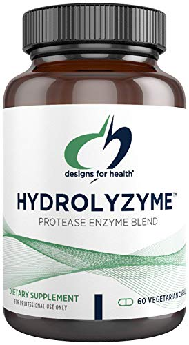 Designs for Health Hydrolyzyme - Protease Digestive Enzymes to Support Protein Digestion + Gut Health - Designed to Take with Protein Supplements - Non-GMO, Vegetarian + Gluten Free (60 Capsules)