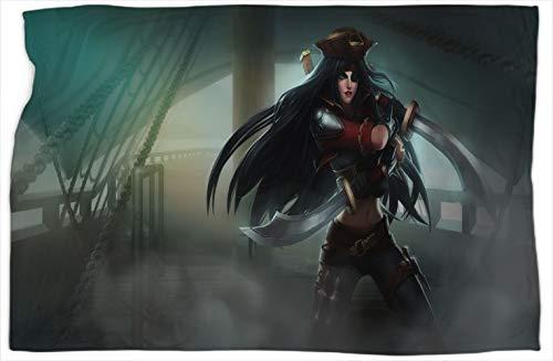 Katarina Bilgewater League Legends - Manta de felpa suave y sedosa para mejorar el sueo, clidas y cmodas mantas de 40 x 50 pulgadas