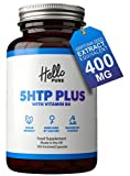 5HTP Plus – Ultra High Strength 5 HTP 400mg Vegan Griffonia Seed Extract Capsules (not Tablets) – High Absorption 5-HTP - 50mg from 400mg Griffonia Seed Extract - with 100% NRV Dose of Vitamin B6