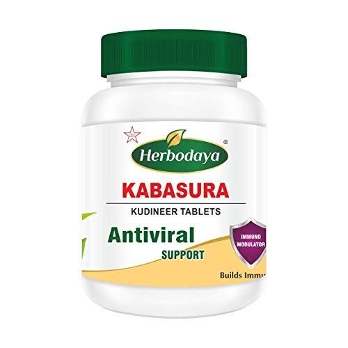 Herbodaya Kabasura Kudineer Tablet 250mg I 60 Tablets |ISO 9001 & GMP Certified Manufacturing Company
