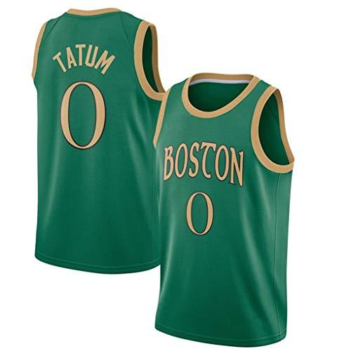 Miyapy NBA Boston Celtics #0 Jayson Tatum Camiseta de Jugador de Baloncesto para Hombres, Camiseta con Bordado, Camiseta de los fanáticos, Chaleco Transpirable Deportivas de Jersey Swingman