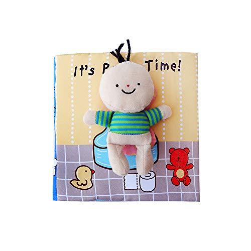 G-Tree Quiet Livres pour Enfants en Bas âge - Soft bébé Livres Toucher et Sentir Cloth, Livres 3D Activité Tissu pour bébés / Enfants en Bas âge, Apprendre à Sensory Livre, Livre Occupé
