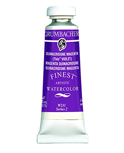 Grumbacher Finest Watercolor Paint, 14 ml/0.47 oz, Quinacridone Magenta (Thio Violet)