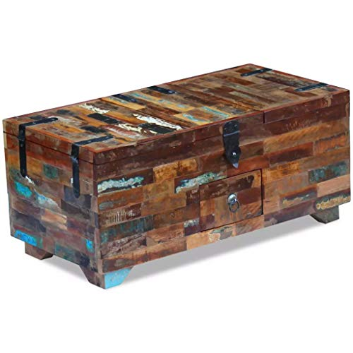 Canditree Antique Storage Chest Wood, Coffee Table with Storage 31.5