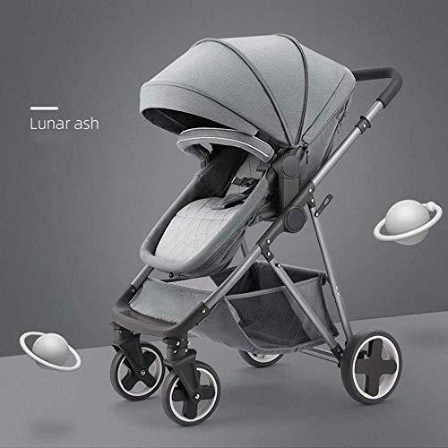 Landaus Poussette Poussette Transport, poussettes Buggy Compact, Portable Anti-Choc Poussette bébé Fournitures pour bébé ( Color : Gray )