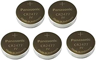 Panasonic CR2477 Lithium Cell Button Industrial Battery (5 Pieces)