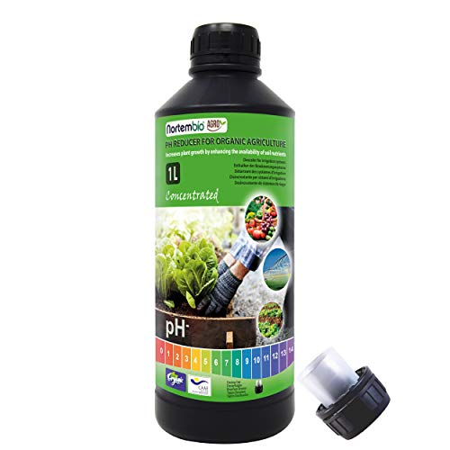 Nortembio Agro Ökologischer pH Reduzierer 1L. Universeller Einsatz. Entkalker der Bewässerungssystemen. Ernten mit mehr Geschmack und Aroma.