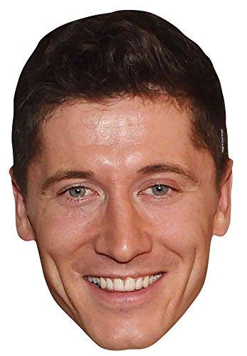 empireposter Fußball - Lewandowski - Maske aus hochwertigem Glanzkarton, mit Augenlöchern
