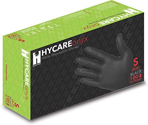 Hycare Guantes médicos desechables sin polvo de nitrilo, talla S (100 piezas)