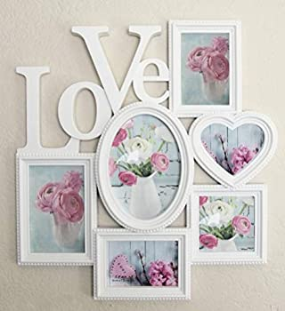 Joice Gift Decorative Wall Hanging Love Collage Picture Frame 6 Option White
