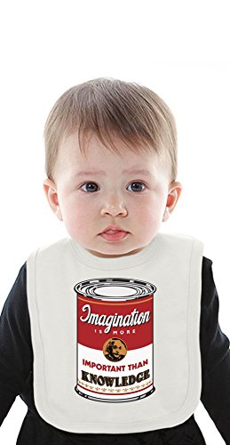 Campbell's Soup Parody Albert Einstein Organic Baby Bib With Ties Medium