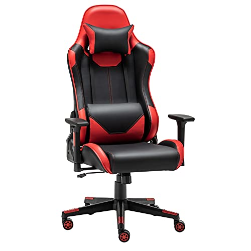 Alltmy Gaming Office Chair, Ergonomic Office Computer Video Game Chair with Lumbar Support, Racing...