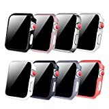 [8 Color Pack] Fintie Case Compatible with Apple Watch 38mm, Slim Lightweight Hard Protective Bumper Cover Compatible with All Versions 38mm Apple Watch Series 3 (2017), Series 2 1 Sport & Edition
