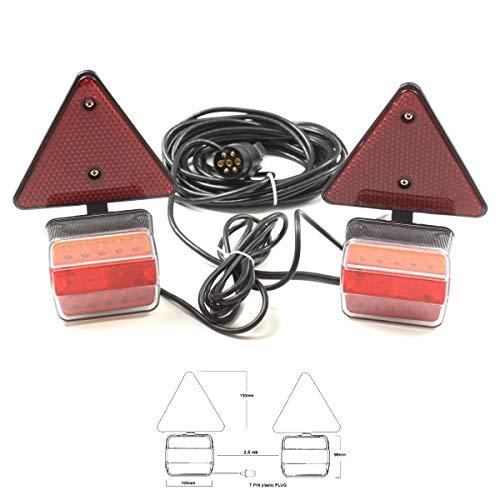 LED Rückleuchten Set 7 polig 7,5m verkabelt Anhänger Beleuchtung Rücklichter