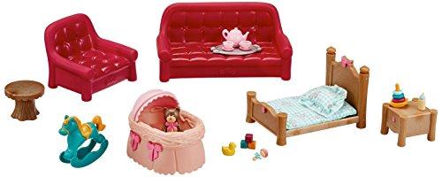 Li'l Woodzeez 6123Z Li'l Woodzeez Zimmer & Kinderzimmer 23tlg Set mit Wohnzimmermöbel und Zubehör - Miniatur Spielzeug und Spielsets für Kinder ab 3 Jahren, Multi
