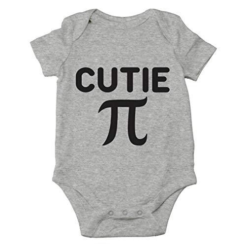 AW Fashion's Cutie Pie - Math Parody Cute Novelty Funny Infant One-piece Baby Bodysuit (6 Months, Sports Grey)