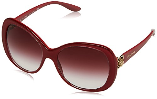 Bulgari Damen 0BV8171B 53808H 57 Sonnenbrille, Rot (Top Crystal On Raspberry/Violet Gradient)