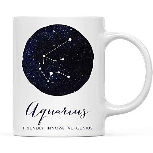 Sterrenbeeld sterrenbeeld 11 oz. Koffiemok cadeau, eigenschappen van de Watermanns Constellation Galaxy, per stuk verpakt