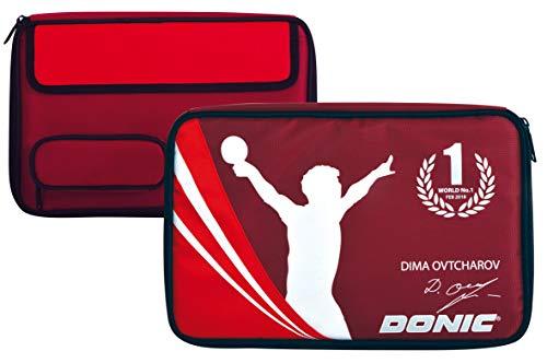 Donic-Schildkröt Funda Ovtcharov Plus para Raqueta de Tenis de Mesa, con Compartimiento de Pelotas Adicional, 818539
