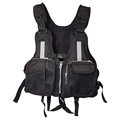 TiTaKa Life Jacket Life Vest, Adults Life Vest Adult Adjustable Canoe Kayak Dinghy Sailing Buoyancy Aid Jacket for Men Women with Multi Pockets