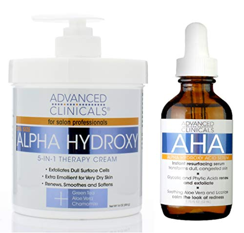 in budget affordable Advanced Clinicals Alpha Hydroxy Acid Skin Care Set. The anti-aging kit contains alpha hydroxy acids …