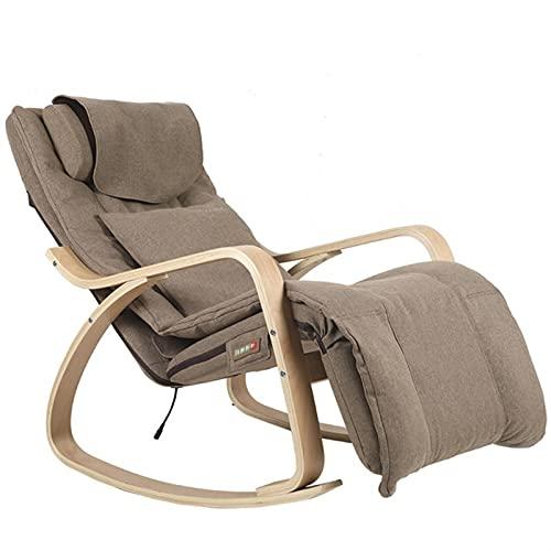 YCHUAN Sillas Silla de salón,Mecedora eléctrica Mecedora de Masaje Mecedora reclinable de Madera con cojín removible Cubierta (Color : Wood)