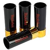 Barbuzzo Buckshot Shot Glasses - Set of 4-12-Gauge Shotgun Shell Shaped Shots