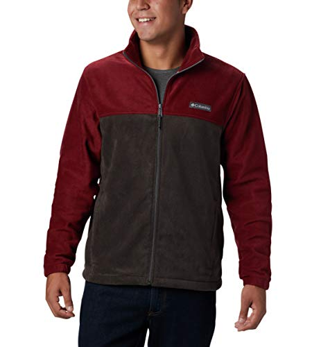 Columbia Men's Steens Mountain Full Zip 2.0, Soft Fleece with Classic Fit, red Jasper, Buffalo, 1X