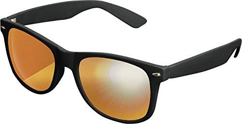 MSTRDS Likoma Mirror Unisex Sonnenbrille Für Damen und Herren mit verspiegelten Gläsern, black/orange