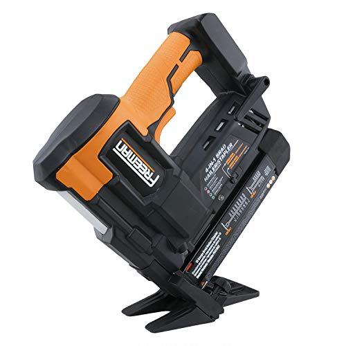Freeman PE4118GF Cordless 20V 4-in-1 18 Gauge Engineered Hardwood Flooring Nailer & Stapler with Lithium-Ion Batteries, Case, Fasteners