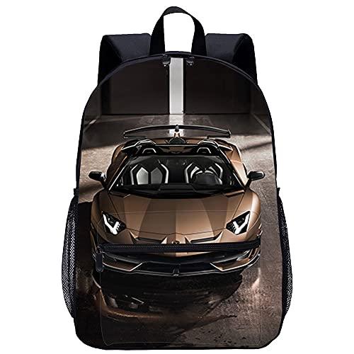 PAWANG Rambo Aventador SVJ bolsa para la escuela Mochila escolar impresa en 3D con patrones exquisitos, mochila escolar ergonómica de gran capacidad