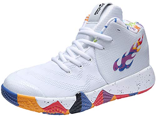QJRRX Hombres Baloncesto Zapatos Mujeres Deportes Entrenadores Botas de Tobillo amortiguación Antideslizante Cesta Unisex Zapatillas 36-45