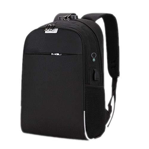 CHUTD USB Batterij Laptop Rugzak 15.6-Inch Anti-diefstal School Tassen Voor Teenage College Reizen Rugzak Grijs Black Als afbeelding