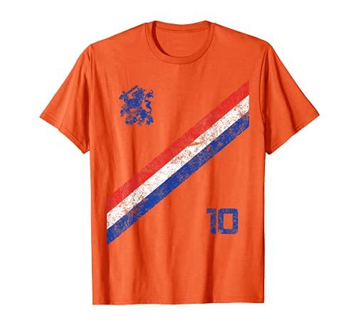Nederland Maglia Calcio Stile Vintage Olanda Paesi Bassi Maglietta