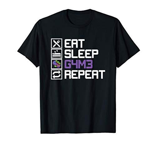 Eat Sleep Game Repeat Orc MMO RPG Juego de Rol Game Leetcode Camiseta