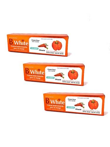 Crème de Visage éclaircissante - Piment Doux avec Carotte - B White - Lot de 3 - Lightening Face Cream - Sweet Pepper with Carrot - Pack of 3