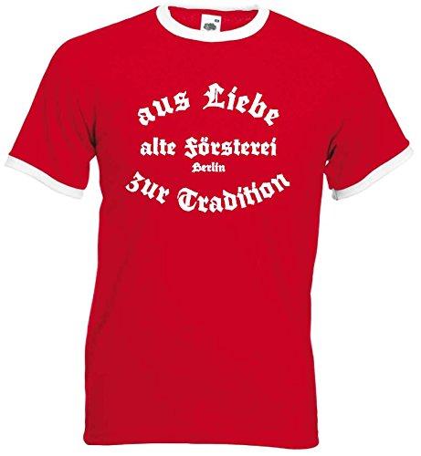 world-of-shirt / Berlin Herren Retro alte Försterei Stadion Rot XL