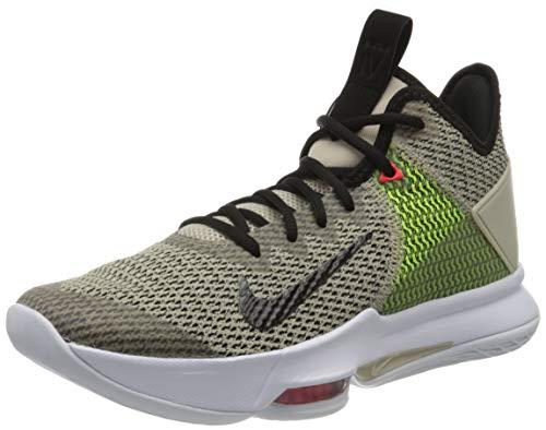 Nike Herren Lebron Witness IV Basketballschuhe, Gelb (String/Black-Volt-BRT Crimson-White 200), 44.5 EU