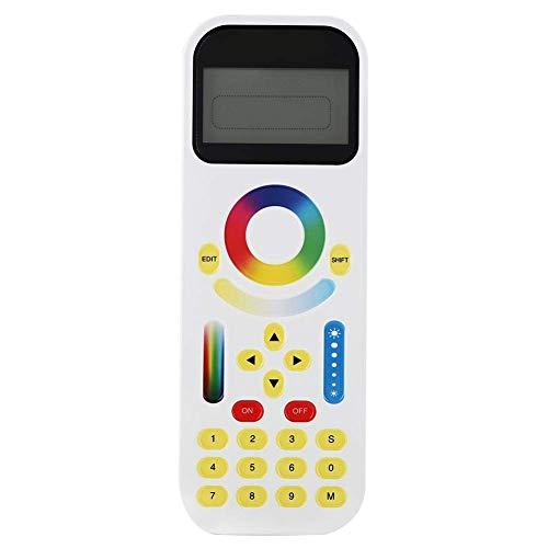 YELLAYBY Controlador de iluminación de pista RGB, 2.4GHz SMART LED LED luz de control remoto Pantalla LCD Pantalla táctil Controlador de anillo de color