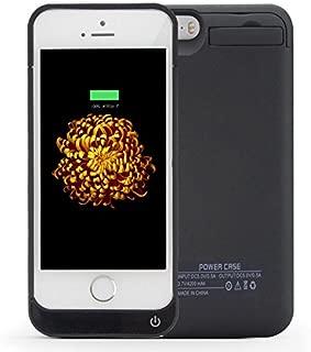 DUTISON iPhone5/5S/SE対応 バッテリー内臓ケース 大容量4200mAh 急速充電 スタンド機能 USBケープルで2台同時充電可能 (ブラック)