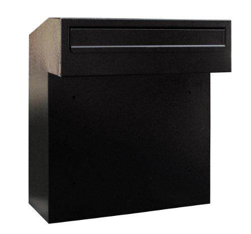 Großer Briefkasten, w3-4, für Tore und Zäune schwarz